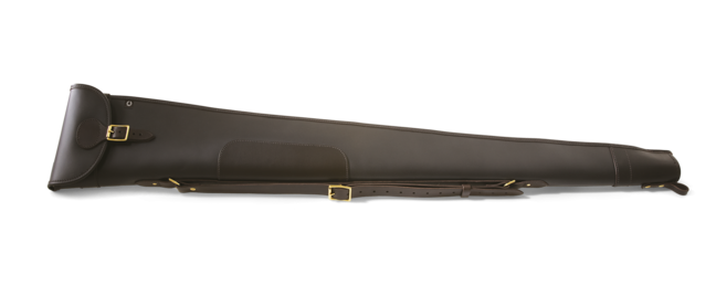 Leather shotgun slip - with flap and zip